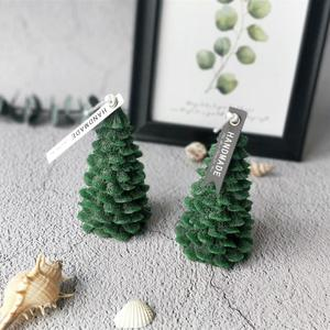 Paraffin wax pine cone tree shaped Christmas Candles