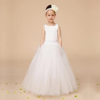 7cff84cd4d371 Mode Ivoire tutu De Fille de Fleur Robes Pour Mariage Enfant Robe De Bal  Robes Pour