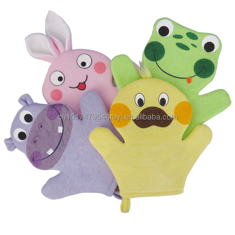 Kid Animal Shaped Bath Gloves/Sponge/Loofah For Body Scrub Hot Sale Promotion