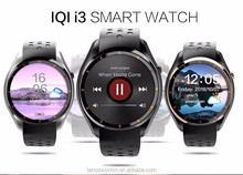 2017 New I3 Smart Watch MTK6580 Android 5.1 Silicone Leather Wristband SIM For Google map heart rate WIFI GPS 3G