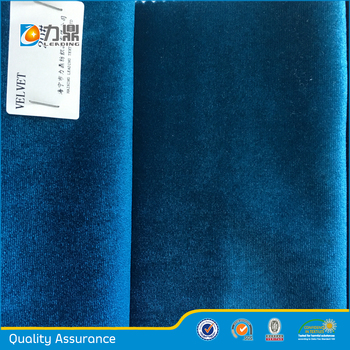 Alibaba Popular Royal Blue Velvet Fabric Sofa Upholstery Fabric