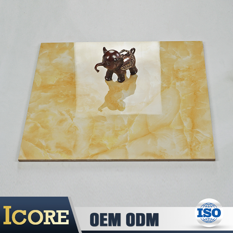 Online Product Selling Websites Luxury Marble Look 60*60 Gold Tiles