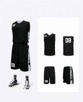 Amazing quality custom fashion logo latest design basketball jersey black color
