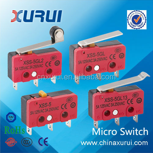 TUV&RoHS 3 pins 5A micro switch kw3 oz micro switch