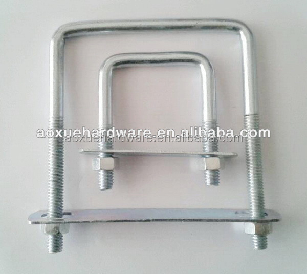 Electric galvanized square clamp u bolzen bolt