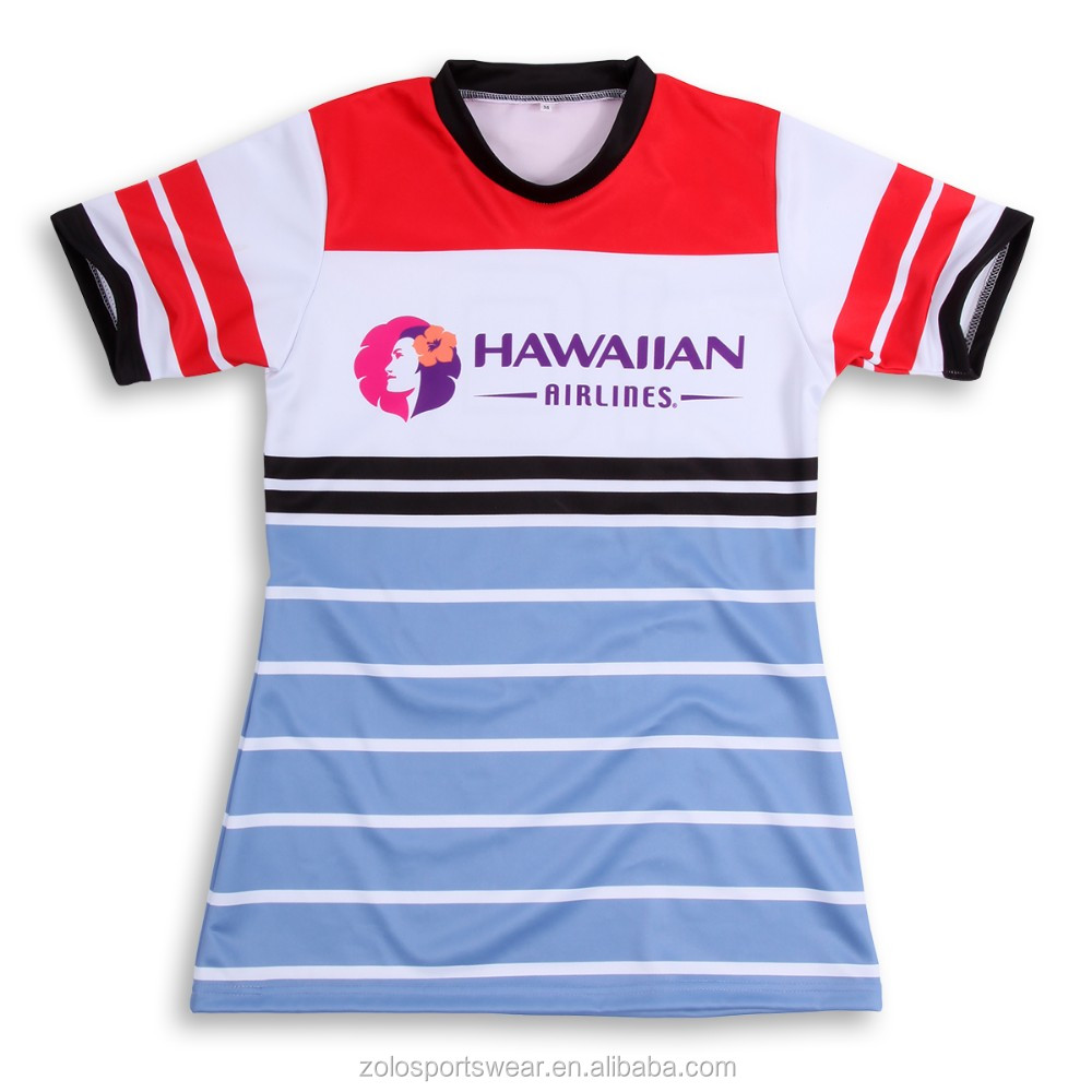 Factory direct supplier sublimation hot basic rugby custom t-shirt