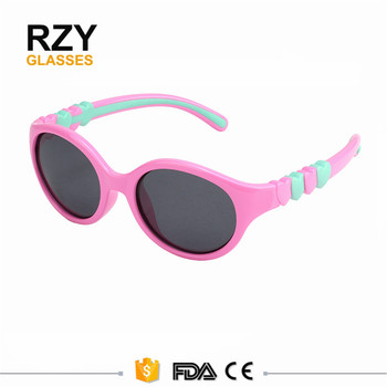 6ed24171e3 Lovely hearts cartoon photo kids sunglasses UV400 Shades Baby girl boy  glasses soft rubber frame fashion