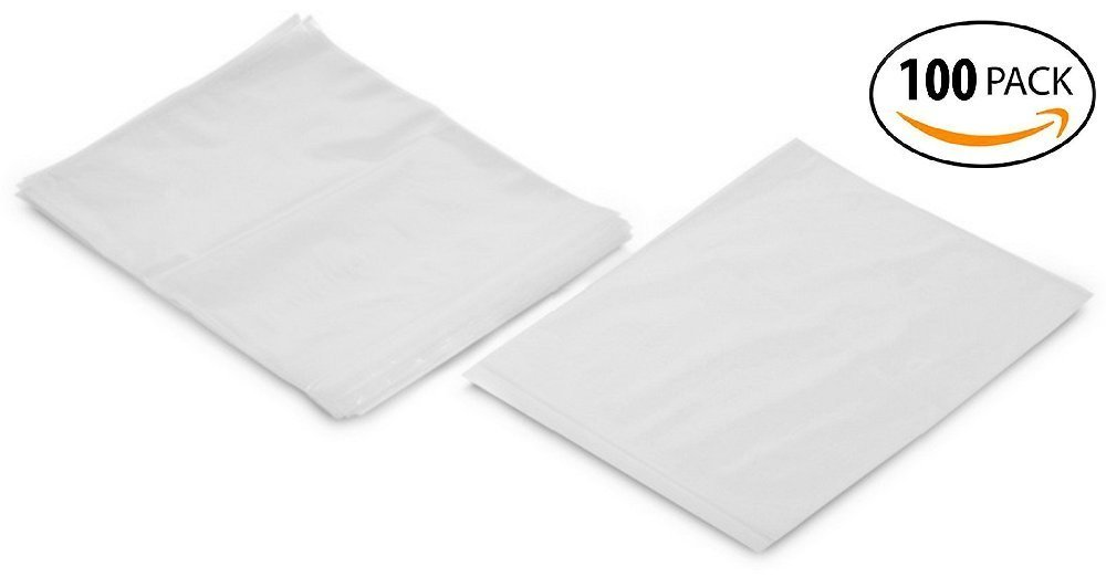 Reusable Zip Bags 4x6 inch Clear Poly Bags 1.8 mils Thick Pack of 100