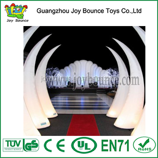 party event inflatable led decoration cone with led light