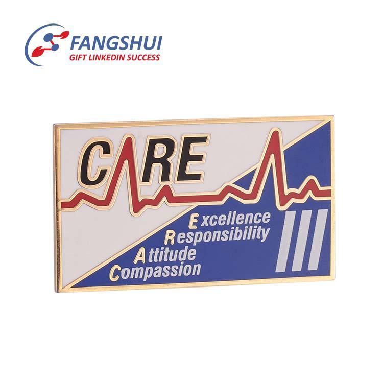 Cheap custom company logo blank aluminum name tag metal sublimation magnetic name badge