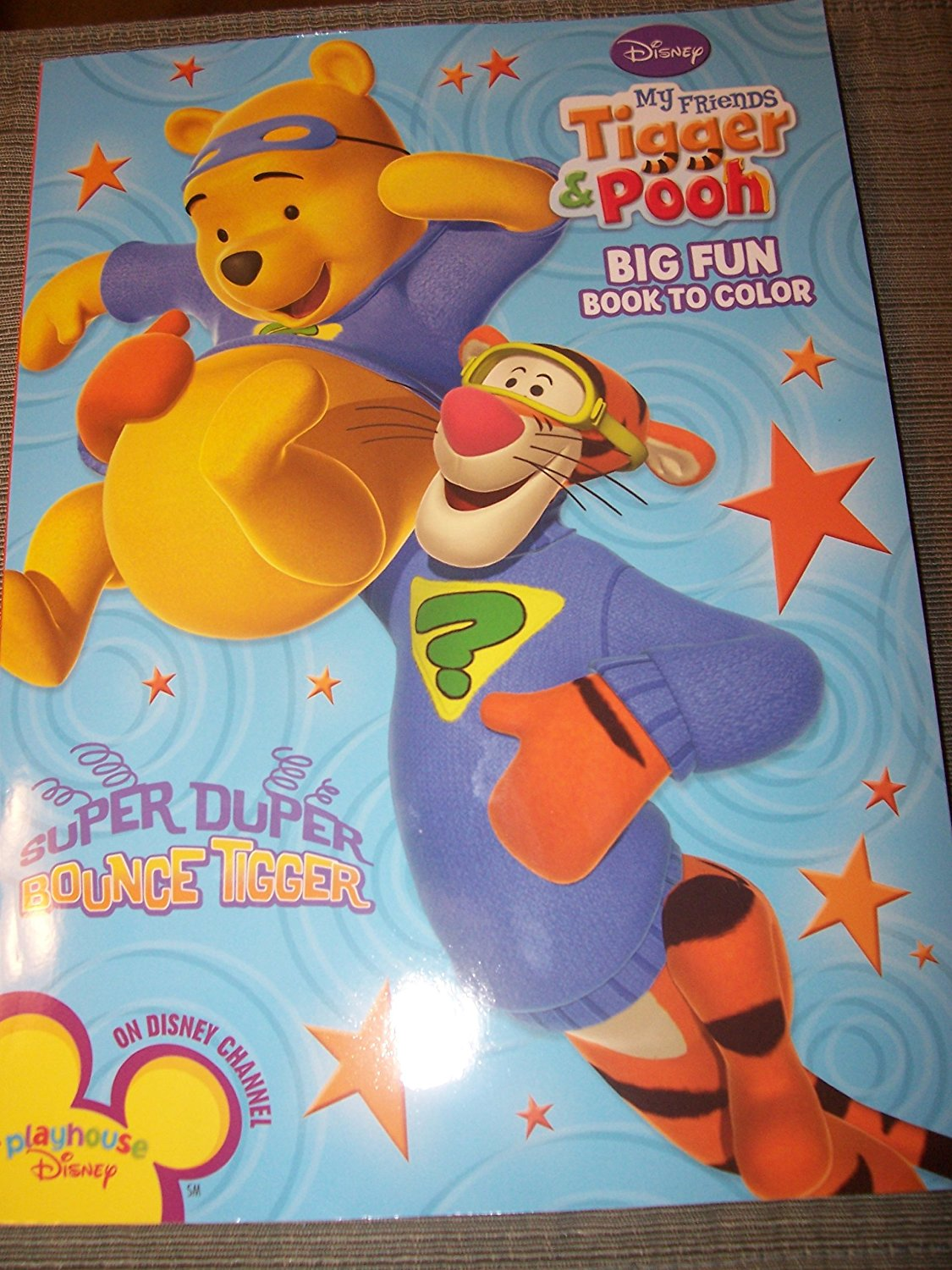 Disney My Friends Tigger & Pooh Big Fun Book To Color ~ Super Duper Bounce Tigger (96 Pages)