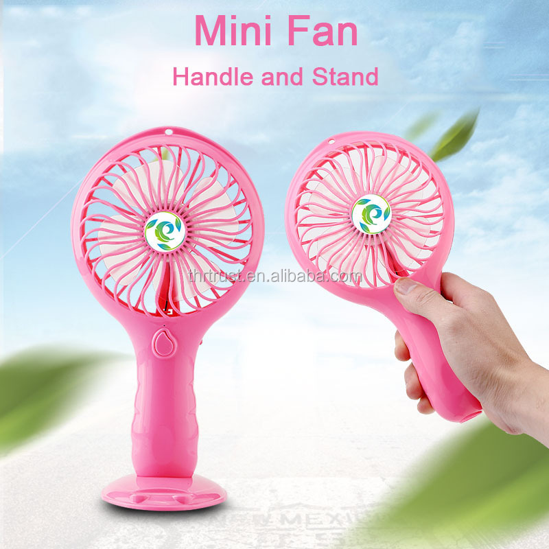 High Quality Best price Rechargeable mini usb standing fan Phone holder