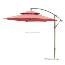 Outdoor one side patio umbrella with base