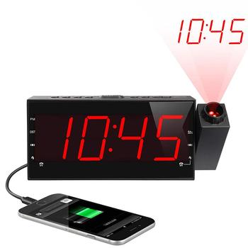 China Reliable Supplier Customized Newest Project Table Alarm Quartz Clock with time projection