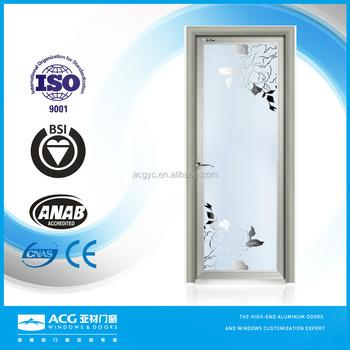Soundproof Glass Interior Doors, Frosted Glass Interior French Doors,  Laminated Modern Bathroom Door