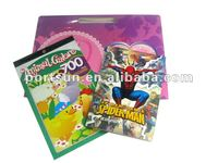 2013 children DIY stationery of cartoon color filling book with sticker book packed in paper bag