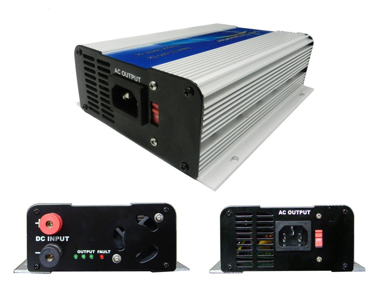 DECEN 300W Grid Tie Micro Inverter Output Pure Sine Wave, 10.5-30vdc,110vac,60hz For Home Solar System
