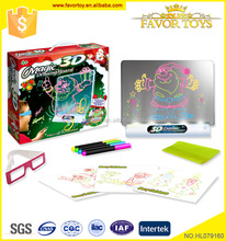 Battery operated educational funny 3D magic drawing board for babies