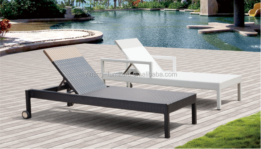 Morocco black and white modern beach hotel outdoor for Black and white chaise lounge