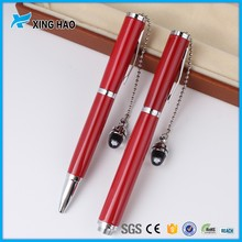 Christmas gift set great brand elegent chinese metal ball pens with pendant advertising ball pen with gift box