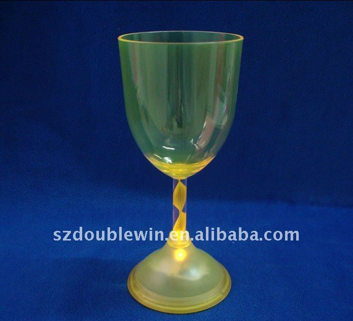 Christmas party <strong>decoration</strong> flashing led white wine glass plastic wine cup