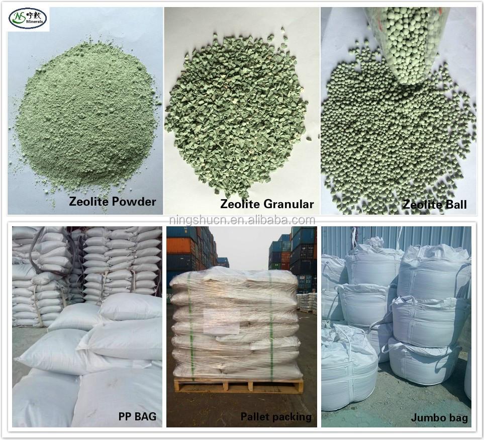 Pale Green Clinoptilolite Natural Zeolite Granular And