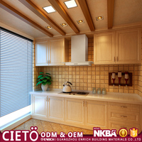 modular Solid wood kitchen furniture designs with price in stock on alibaba