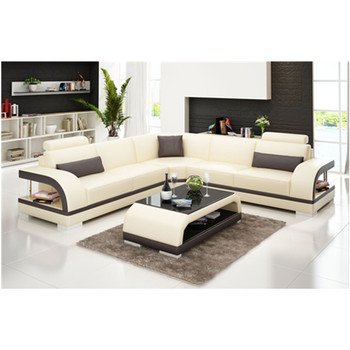 Italy Modern Leather L Shape Sofa Design