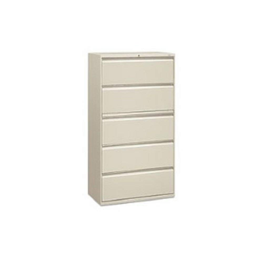MyEasyShopping Five-Drawer Lateral File, Roll-Out/Posting Shelves, 36 X 67