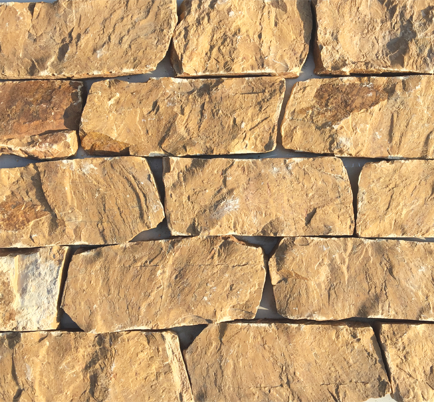 Yi County Yellow Limestone Cheap Stone Veneer