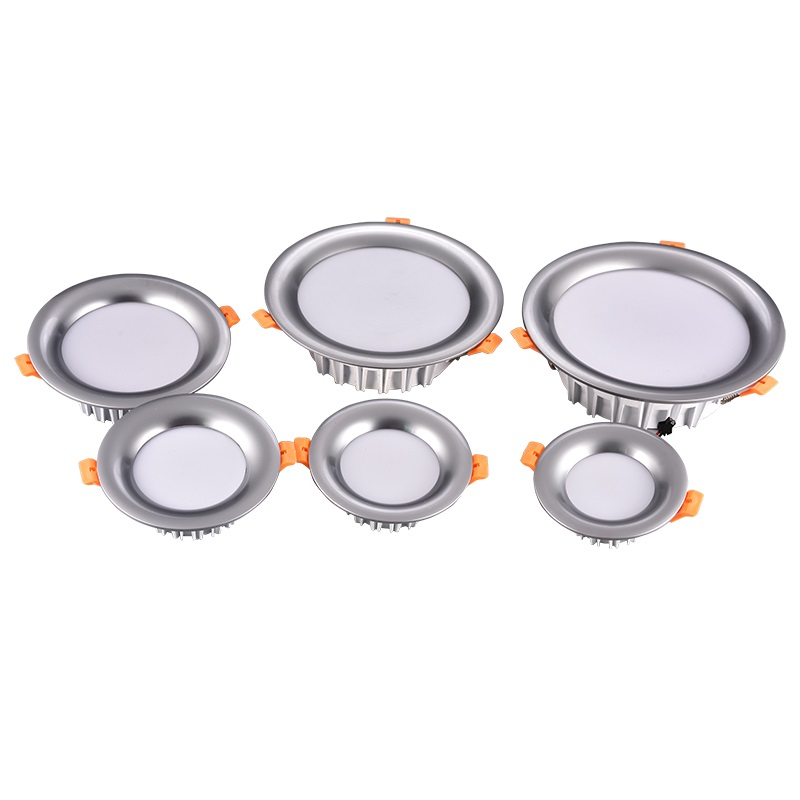 Top Quality 3W 5W 7W 9W 12W 15W Dimmable Chrome Silver Black Gold Ceiling Recessed LED Light Downlight