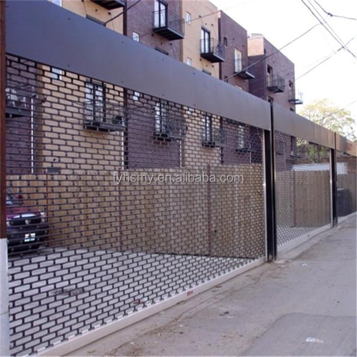Safety Door Design With Grill Roller Shutter Door