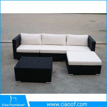 China Factory Outdoor Furniture Poly Rattan L Shape Sofa Sets