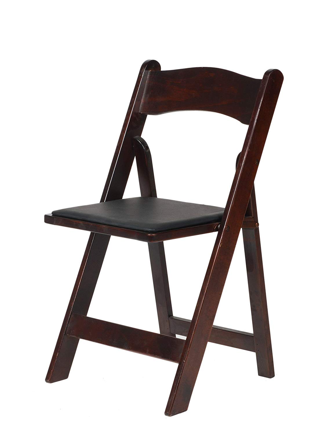 "CSP Events A-101-RM Wood Folding Chair, 30.5"" Height, 17.5"" Width, 17.5"" Length, Red Mahogany"