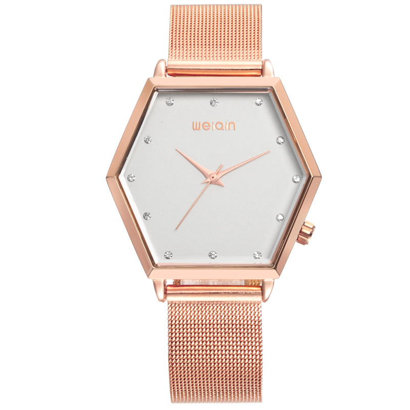 2016 New Vogue Hexagon Alloy Case Valentine Present Watch
