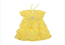Hot Sale New Summer Baby Girls Dress Striped Bow Cotton Casual Kids Cake Dress Cute Infant Princess  Girl Casual Dress