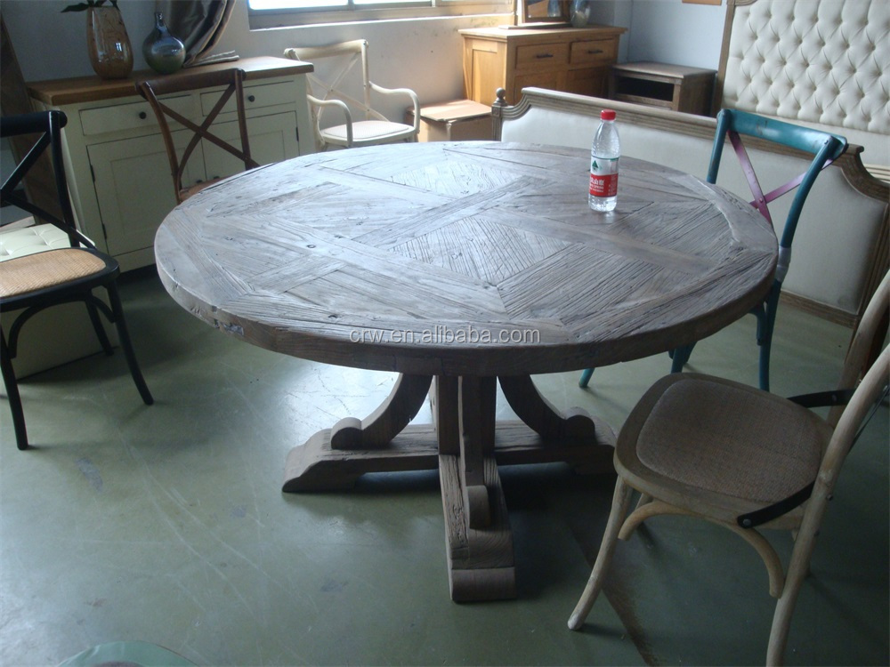Re 1505 Recycled Wooden Vintage Dining Room Table Made In Malaysia