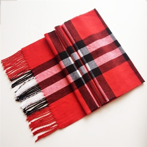 Wholesale 112 colors Fashionable red checked scarf shawl men's Imitated cashmere scarf