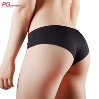 black seamless ladies biniki panties plus size women underwear