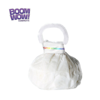 Boomwow High quality magic no mess party streamer white hand throw streamers for Performance Show