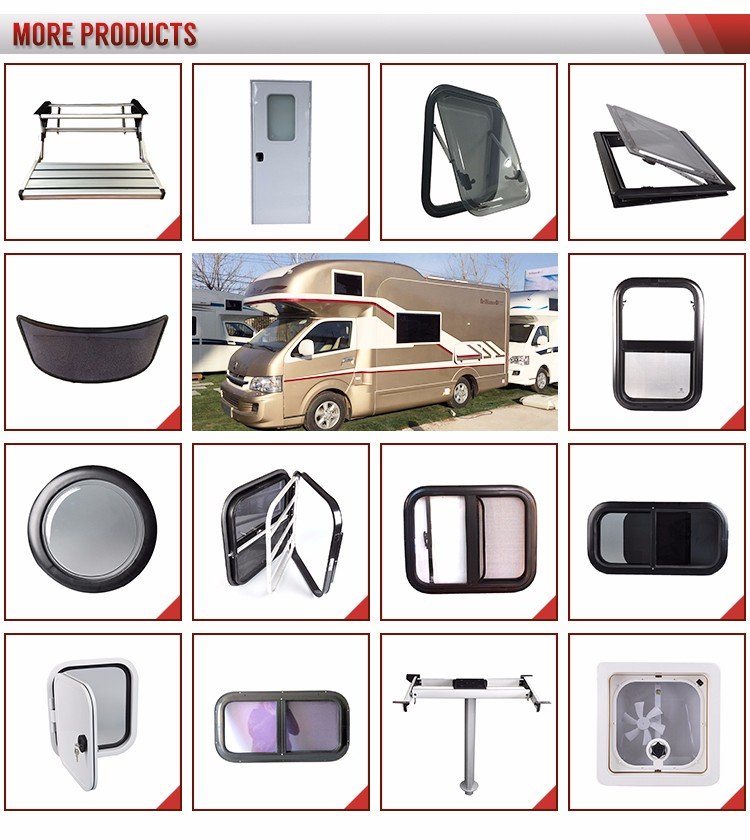 acrylic glass sliding window for caravan and rv