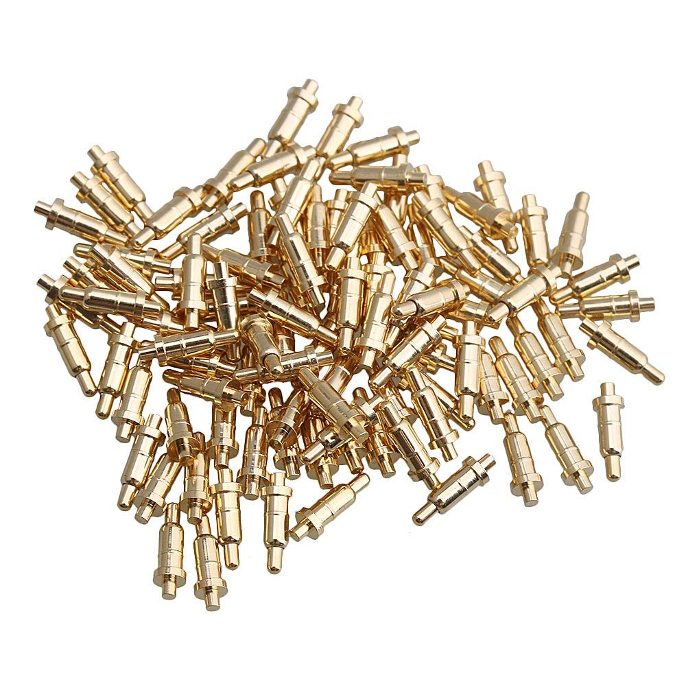 Mxfans 100x Gold-plated 6mm Copper Needles Probes Spring Pogo Pin Connector