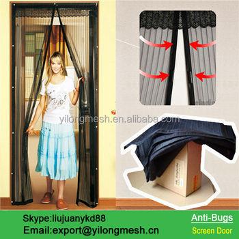 Hanging Mesh Magnetic Screen Door Curtain