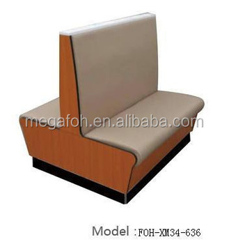 Superbe Fashion Double Sided Restaurant Banquette Booth Seating Sofa(FOH XM34 636)
