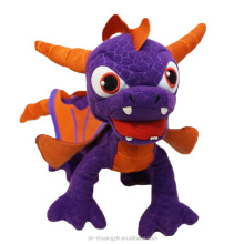 Wholesele factory OEM soft stuffed animal plush action figure Skylanders purple Monsters Dragon doll Game toys