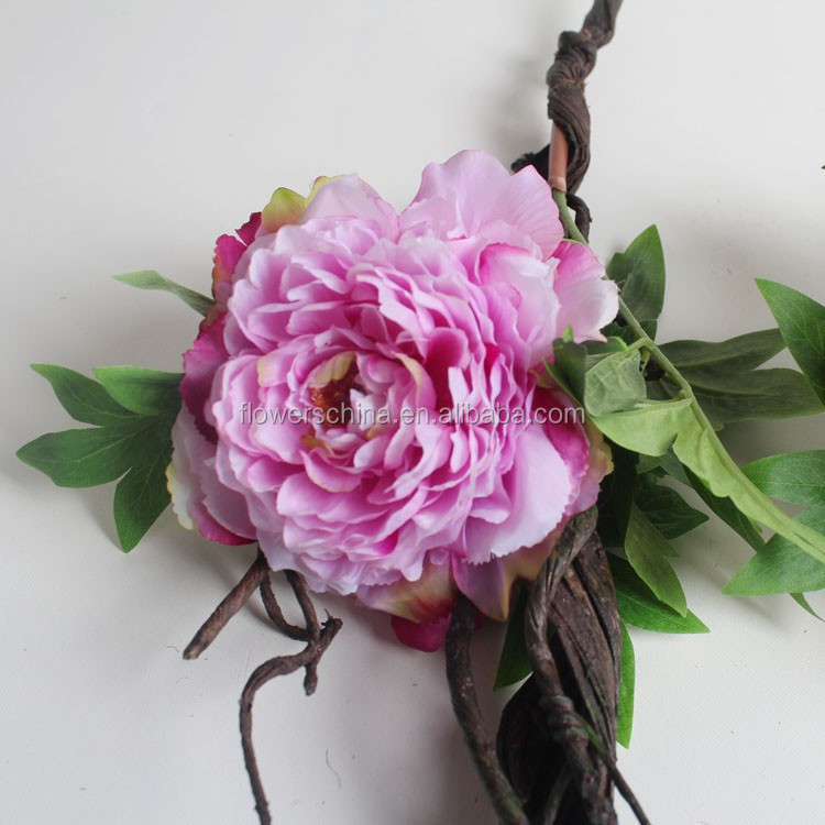 New Natural decoration Peony with Rattan Artificial Peony for Landscaping