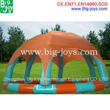 Giant inflatable water pool with roof for sale