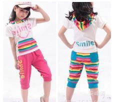 WholeSale Short Sleeve Bangladesh Children Girls Tracksuit Clothes Garments Stock Lot