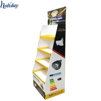Led Bulb Cardboard Rack Case E Paper Counter Display Stand Design