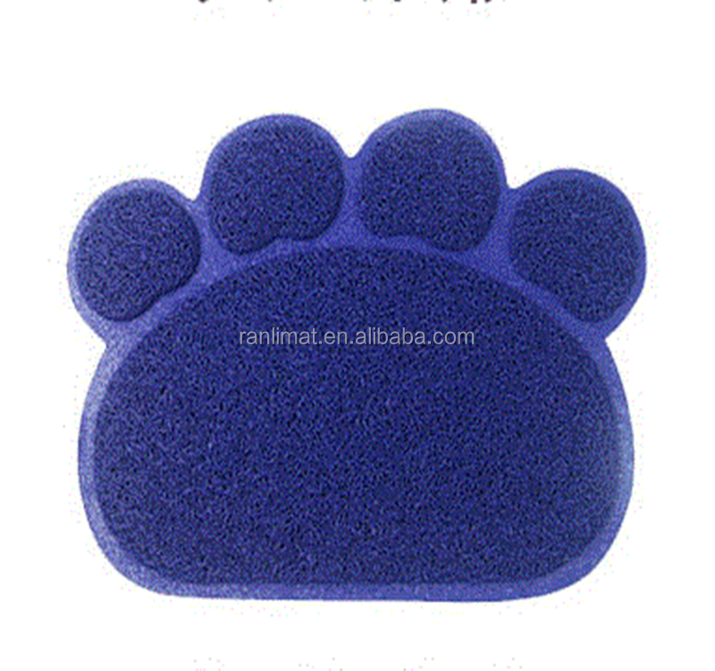 Health and eco-friendly pvc coil pet traps litter pad protection dog feeding bad floor mat